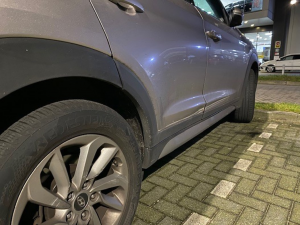 Hyundai Tucson beschadigd